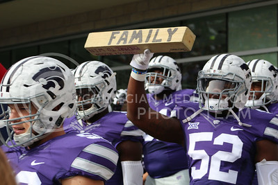 K-State football players exit the tunnel for the game against Oklahoma State on Nov. 5, 2016, in Bill Snyder Family Stadium. (Abby Cambiano | The Collegian)