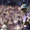Sophomore wide receiver Byron Pringle  checks to see if he is on the line of scrimmage  during the football game between K-State and Texas in Bill Snyder Family Stadium on Oct. 22, 2016. (Emily Starkey | The Collegian)