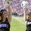 A Kansas State Classy Cat preforms during the football game between K-State and Texas in Bill Snyder Family Stadium on Oct. 22, 2016. (Emily Starkey | The Collegian)