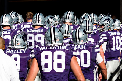 The football team heads into the locker room before the football game between K-State and Texas in Bill Snyder Family Stadium on Oct. 22, 2016. (Sabrina Cline | The Collegian)