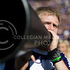 A K-State yell leader yells during the football game between K-State and Texas in Bill Snyder Family Stadium on Oct. 22, 2016. (Emily Starkey | The Collegian)
