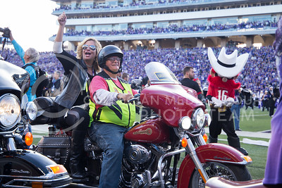 Motorcycle riders before the K-State against Texas Tech football game in Bill Snyder Family Stadium on Oct. 8, 2016. (Anna Spexarth |  The Collegian)
