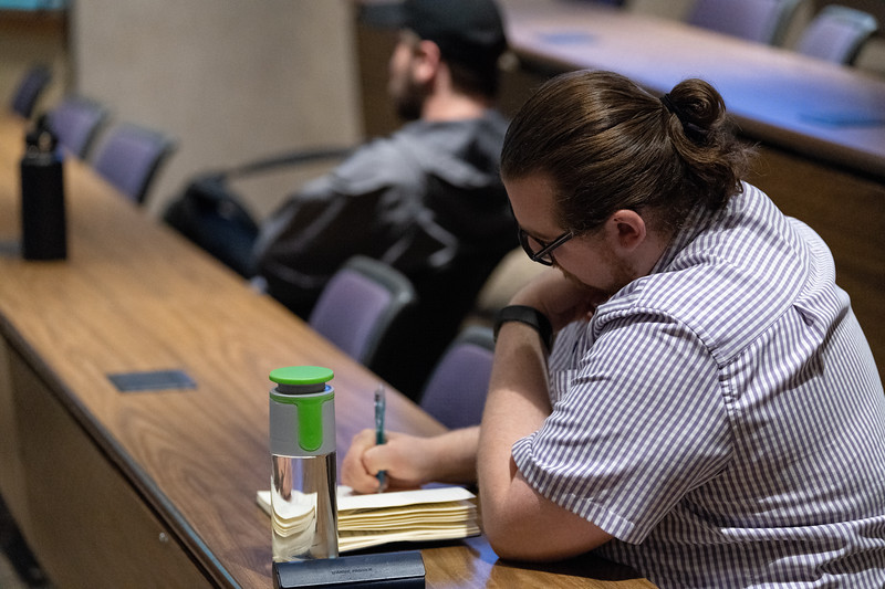"Many K-State students and faculty that attended ""Free Speech, Diversity and Inclusion"" in the Big 12 Room on October 9, 2018 wrote notes that they can take back to their classrooms and organizations. (Alex Todd 