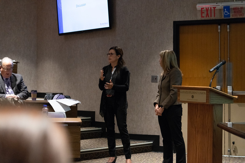 """As part of KSUnite on October 9, 2018, Cheryl Strecker and Mirta Chavez gave a talk and hosted a discussion on """"Free Speech, Diversity and Inclusion"""". (Alex Todd 