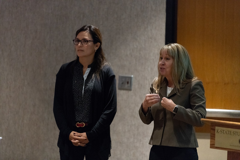 "As part of KSUnite on October 9, 2018, Cheryl Strecker and Mirta Chavez gave a talk and hosted a discussion on ""Free Speech, Diversity and Inclusion"". (Alex Todd 
