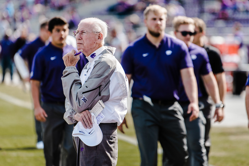 Bill Snyder watches his team before the game against TCU Nov. 3. K-State lost against TCU 14-13. (Meg Shearer | Collegian Media Group)