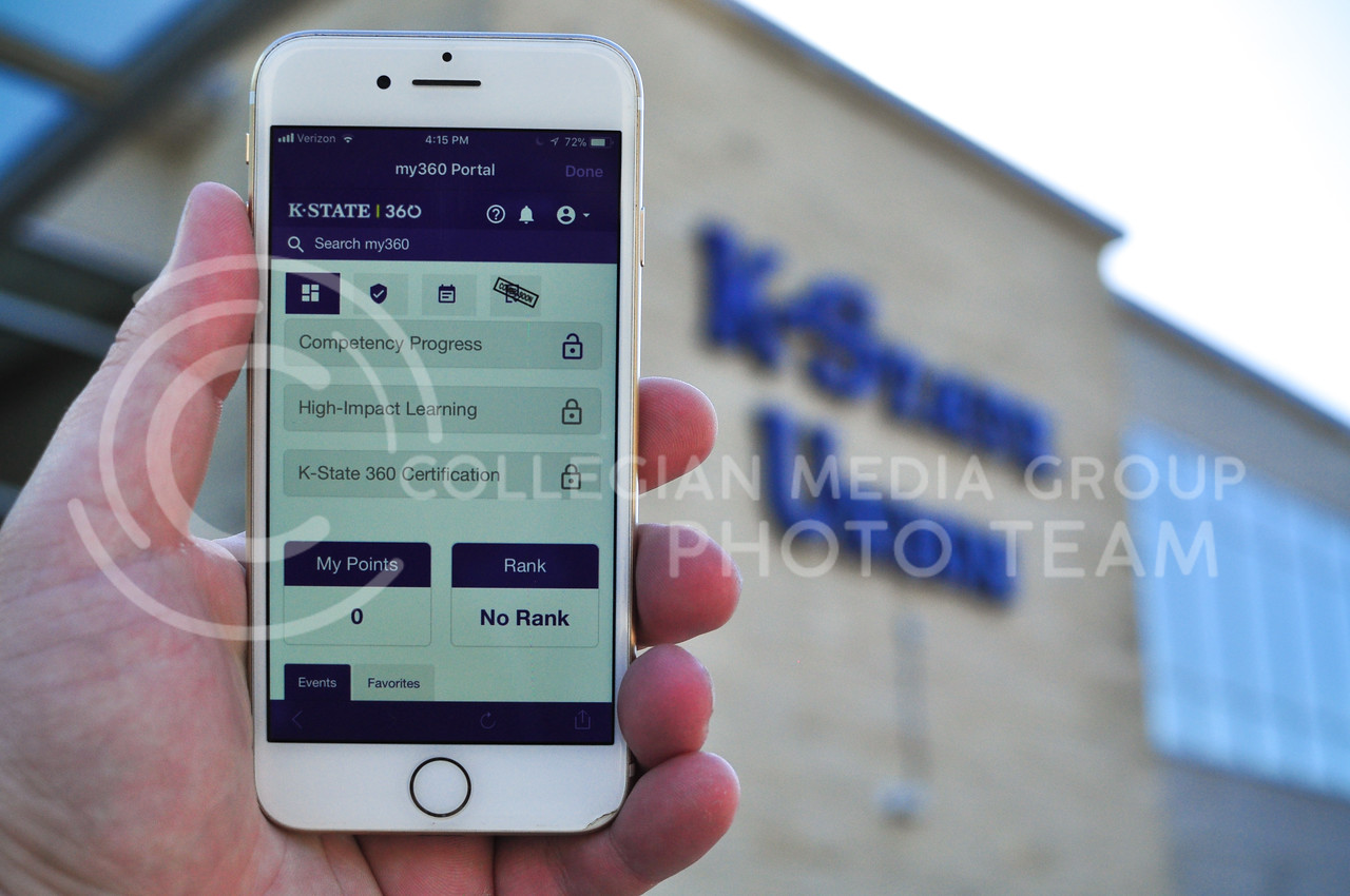 Get involved with the K-State 360 app and get rewarded with discounts, recognition, and access to get aways. (Blake Reid | Collegian Media Group)
