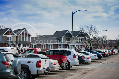 The Jardine Apartments parking lot on March 13, 2017. (Logan Wassall | The Collegian)