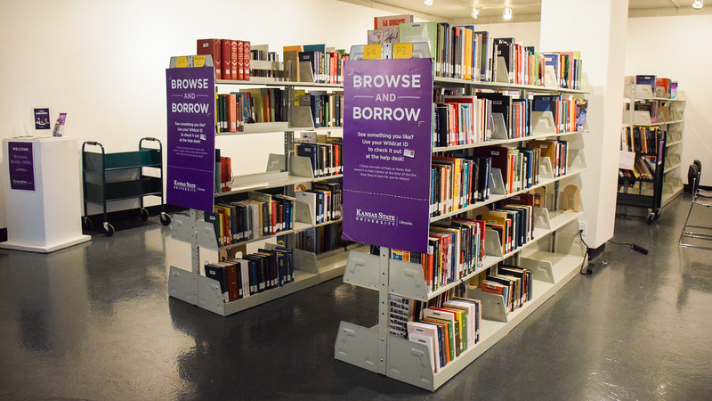 The Hale Library help desk, located in the K-State Student Union, allows students to check out books for leisure as well as class. Though many of their books were damaged in the Hale fire, new books are available for check out.
