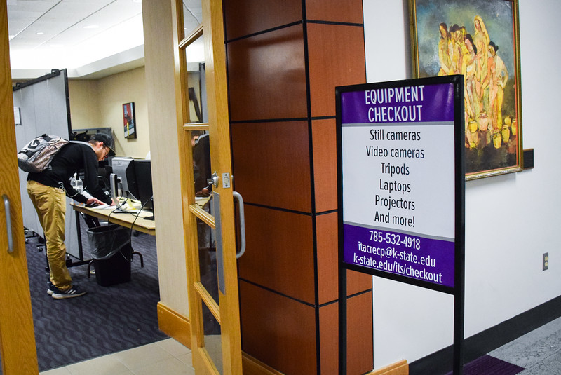 While the Information Technology Service's equipment checkout items were damaged in the Hale Library fire, some items have been replaced for students to utilize. The equipment checkout can be found on the top floor of the K-State Student Union, in the Cat's Pause Lounge.