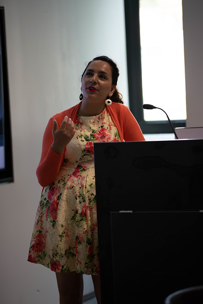 Dorna Eshrati, Ph.D. candidate, on overview of Persian culture and tea. Oct 3, 2019. (Dylan Connell | Collegian Media Group)