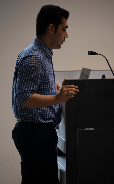 Hamed Goharipour, PhD candidate, on Yazd's urban life and unique infrastructure. Oct 3, 2019. (Dylan Connell | Collegian Media Group)