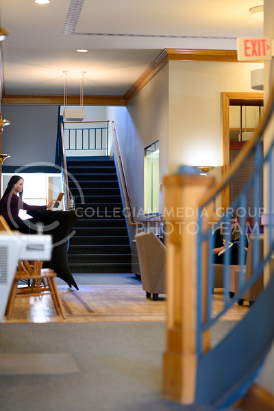 Inside Holton Hall, containing administrative offices, student services, and the Office of Student Life. Feb 13, 2020. (Dylan Connell   Collegian Media Group)