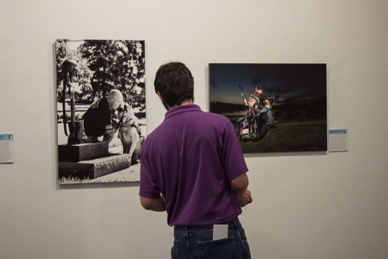 The Hope 22 exhibit in the William T Kempler Gallery in the Student Union showcases veteran's personal stories, in order to raise awareness for our country's high veteran suicide rate and to bring hope to veterans and their families. (Sarah Millard| Collegian Media Group)