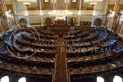 125 seats fill the House of Representatives in the Kansas State Capitol to seat the legilators voted in every two years. (Photo by Evert Nelson   The Collegian)