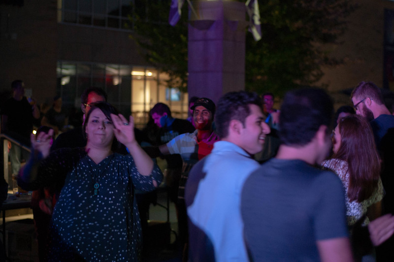 Kansas State University dance to Namehraboon by Fateneh, an Iranian pop singer,  in Bosco Plaza at the 2018 International Block Party. The events goal was to create a sense of unity and to allow for students to explore different cultures. (Rowan Jones | Collegian Media Group)