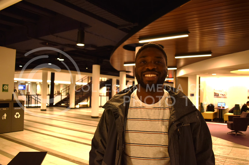 Eric Ofori, graduate student in agricultural economics, is an international student from Ghana. (Julie Freijat | Collegian Media Group)