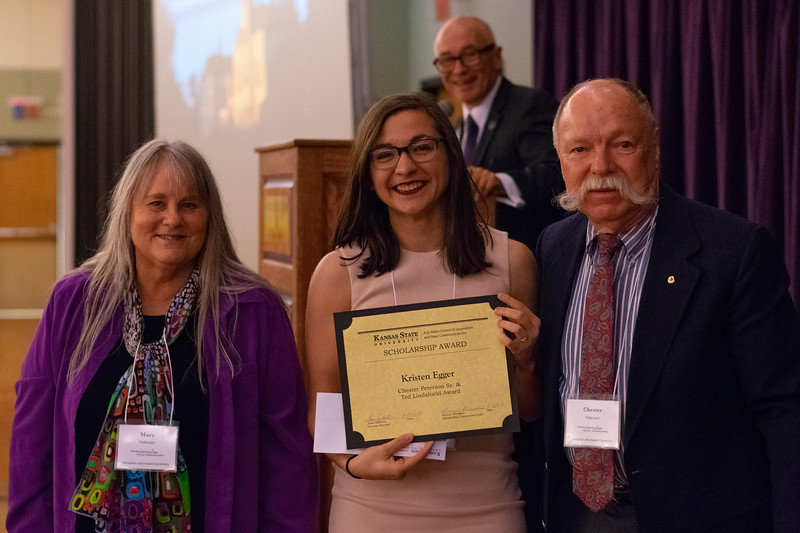 K-State A.Q Miller School of Journalism and Mass Communications award ceremony on April 27, 2018. (Alex Todd | Collegian Media Group)