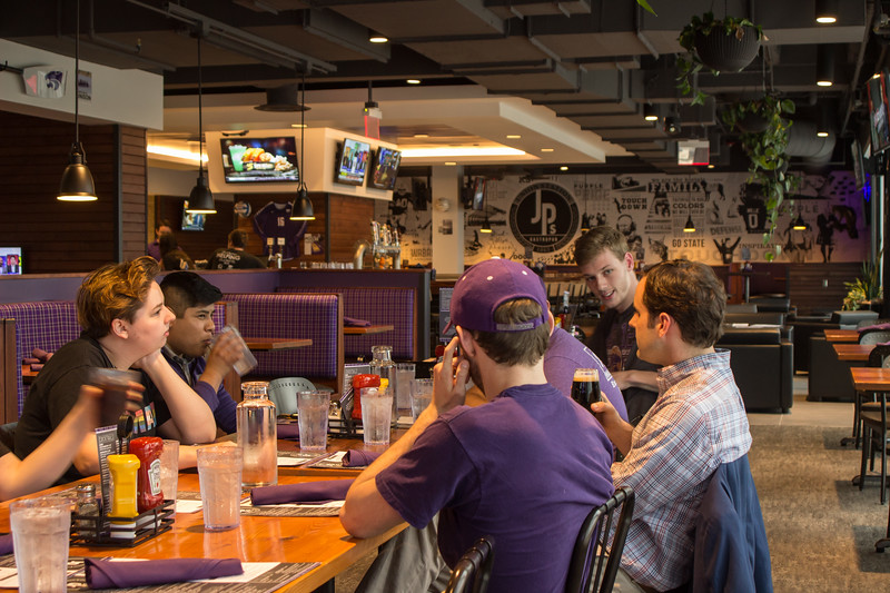 The Kansas State University Young Democrats hosted a meet and greet with Democratic gubernatorial canidate, Joshua Svaty on May 2nd at Union Station by JP's Gastropub. (Sarah Millard | Collegian Media Group)