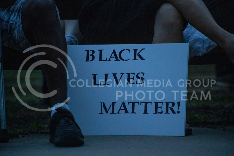 People gathered in city park on June 19th 2020 in observance of Juneteenth. People shared stories, inspiring speeches and a candlelight vigil took place. (Dalton Wainscott   Collegian Media Group)