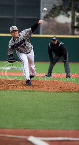 Senior left hand pitcher, Parker Rigler, pitches the ball during the K-State game against UC Riverside at Tointon Stadium on Mar. 12 2017. (Sabrina Cline | The Collegian)