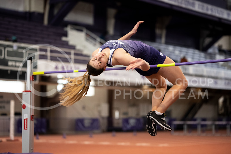 Kansas State's University, High Jumpers, at the Track & Field Steve Miller Open indoor Ahearn Field House on 02/22/20. (Dylan Connell | Collegian Media Group)