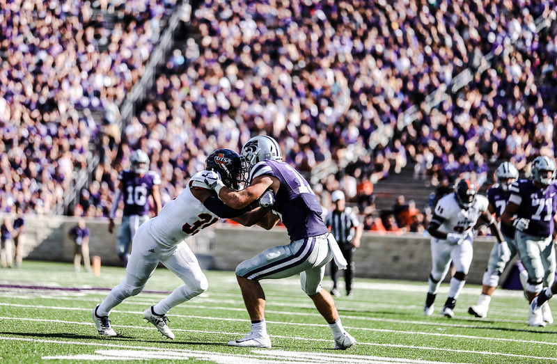 The Wildcats take on UTSA at Bill Snyder Family Stadium on Saturday. They ended the game with a score of 41-17, which was their second win of the 2018 season (Emily Lenk   Collegian Media Group)