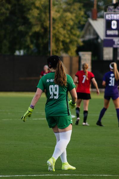 Redshirt Sophomore Rachel Harris staying alert at game against Arkansas State. Arkansas won 2-1. (Luis Villarreal-Reyes   Collegian Media Group)
