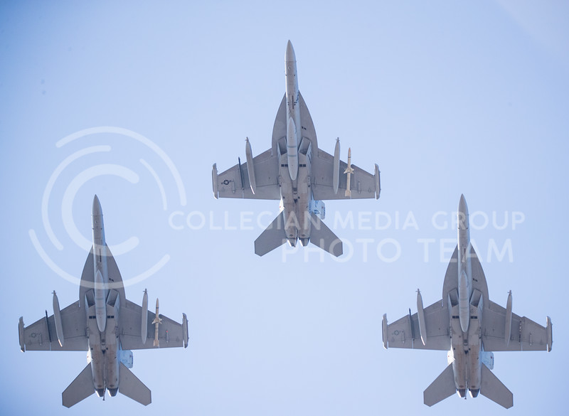 Fighter jets fly perform a fly-over before game against Oklahoma. The Wildcats upset the #5 ranked Sooners 48-41.( Dalton Wainscott I Collegian Media Group )