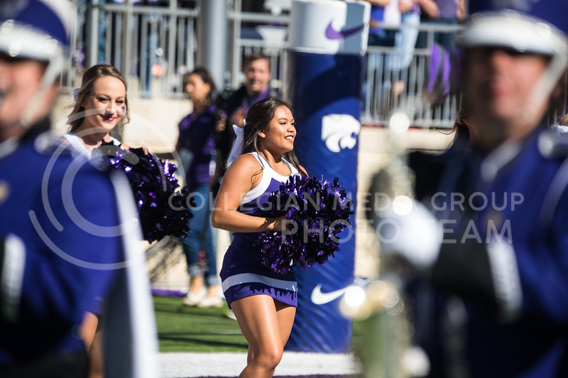 Cheerleader stands at the ready at game against the TCU Horned Frogs. The Wildcats beat TCU 24-17. ( Dalton Wainscott I Collegian Media Group )