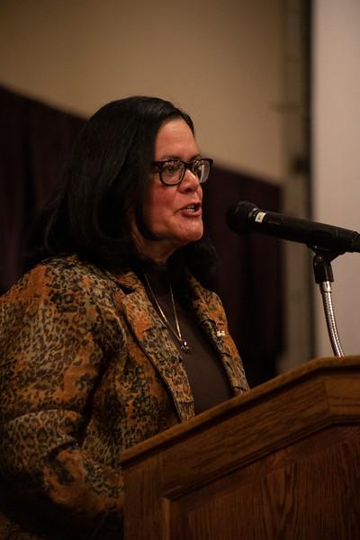 Keynote speaker Judge Maritza Segarra speaks at the 3rd annual KSUnite event on november 6th 2019 (Dalton Wainscott I Collegian Media Group)