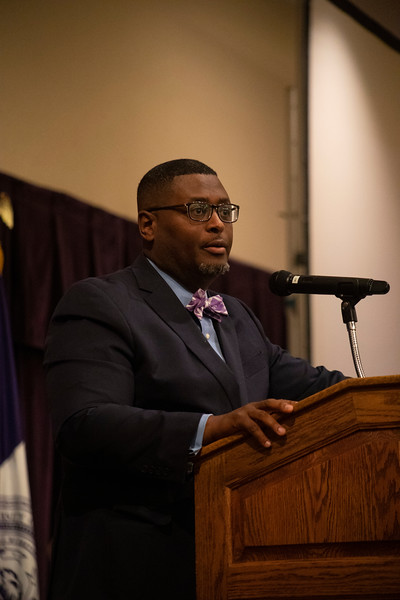 Chief Diversity and Inclusion Officer Bryan Samuel speaks at the 3rd annual KSUnite event on november 6th 2019 (Dalton Wainscott I Collegian Media Group)