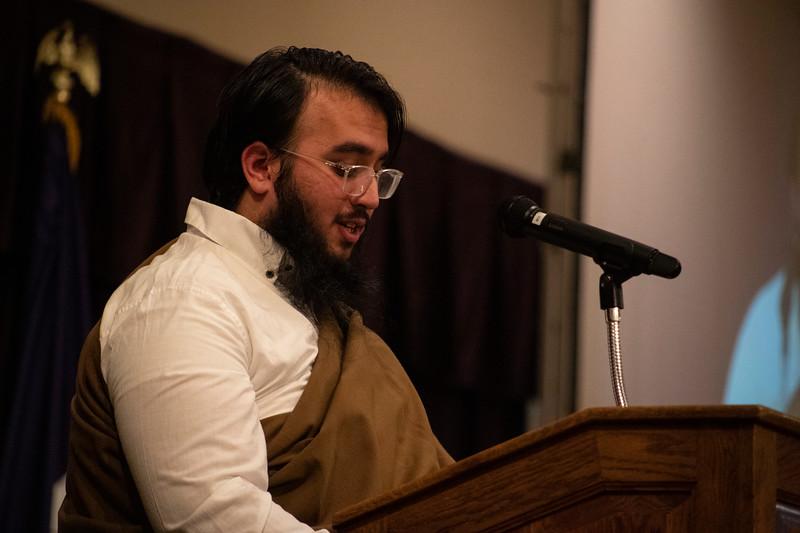 Mohammed Khan speaks at the 3rd annual KSUnite event on november 6th 2019 (Dalton Wainscott I Collegian Media Group)
