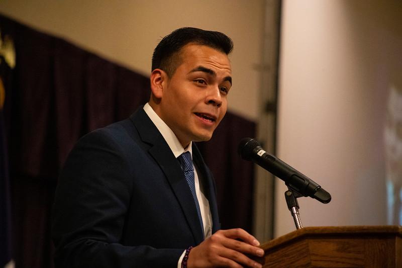 HALO President Francisco Cardoza speaks at the 3rd annual KSUnite event on november 6th 2019 (Dalton Wainscott I Collegian Media Group)