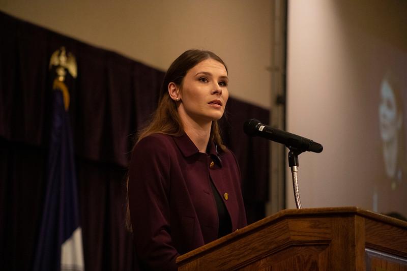 Polina Nations speaks at the 3rd annual KSUnite event on november 6th 2019 (Dalton Wainscott I Collegian Media Group)