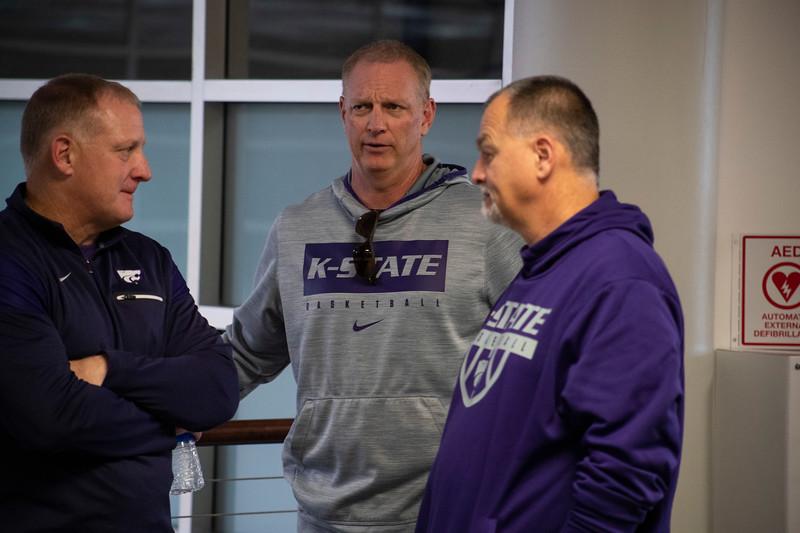 Head Football Coach Chris Klienman waits outside the 3rd annual KSUnite event on november 6th 2019 (Dalton Wainscott I Collegian Media Group)