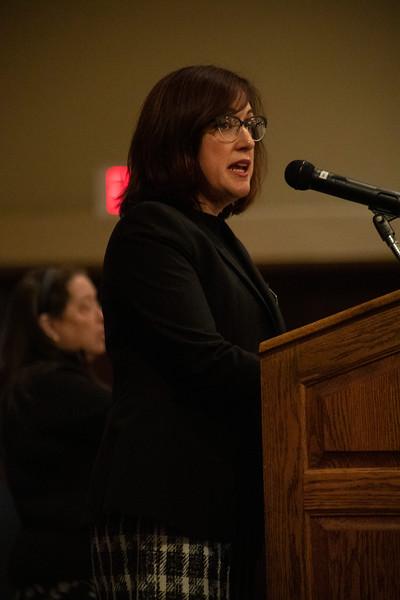 Tonia Gonzales speaks at the 3rd annual KSUnite event on november 6th 2019 (Dalton Wainscott I Collegian Media Group)