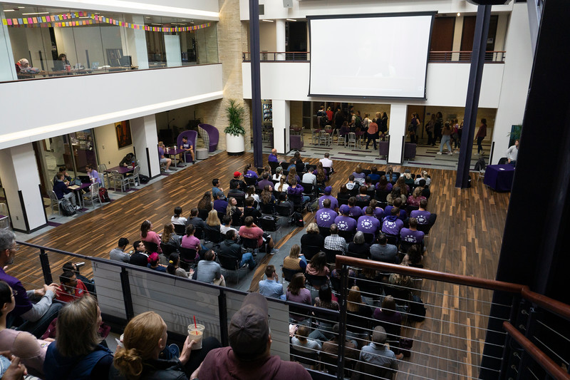 Students gather to support K-State in KSUnite. KSUnite took place on November, 6. 2019. (Abigail Compton| Collegian Media Group)