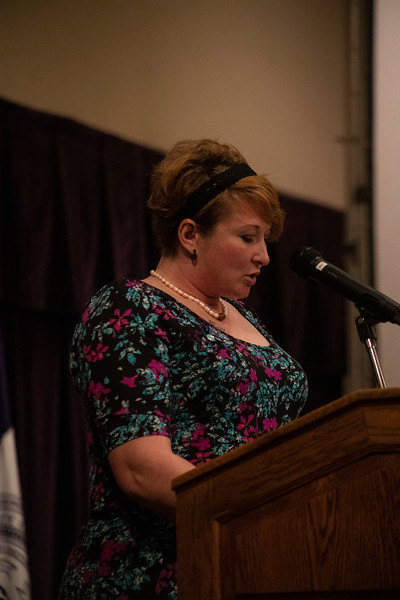 Lindsay Gutierrez speaks at the 3rd annual KSUnite event on november 6th 2019 (Dalton Wainscott I Collegian Media Group)