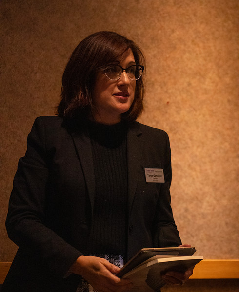 Dr. Tanya Gonzalez speaks at poetry breakout session at the 3rd annual KSUnite event on november 6th 2019 (Dalton Wainscott I Collegian Media Group)