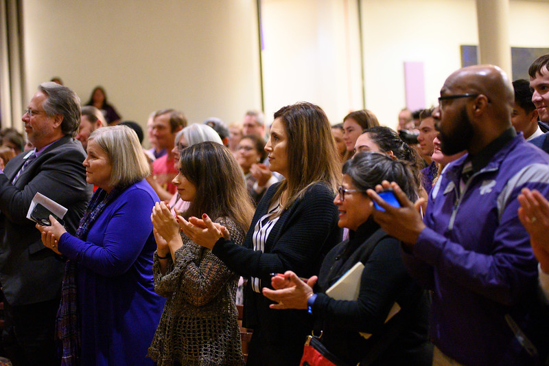 Students and faculty gather to support K-State in KSUnite. KSUnite took place in the Union Ballroom on November, 6. 2019. (Dylan Connell | Collegian Media Group)