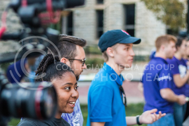 Safiya Woodland, senior in Jounalism/Mass Communications, and Zach Radabaugh, junior in Journalism/Mass Communications at the 2017 anual Kedziepalooza at Kansas State University (Logan Wassall   Collegian Media Group)