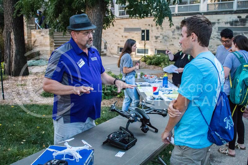 Nick Homburg, Journalism/Mass Communications Instructor at the 2017 annual Kedziepalooza at Kansas State University (Logan Wassall   Collegian Media Group)