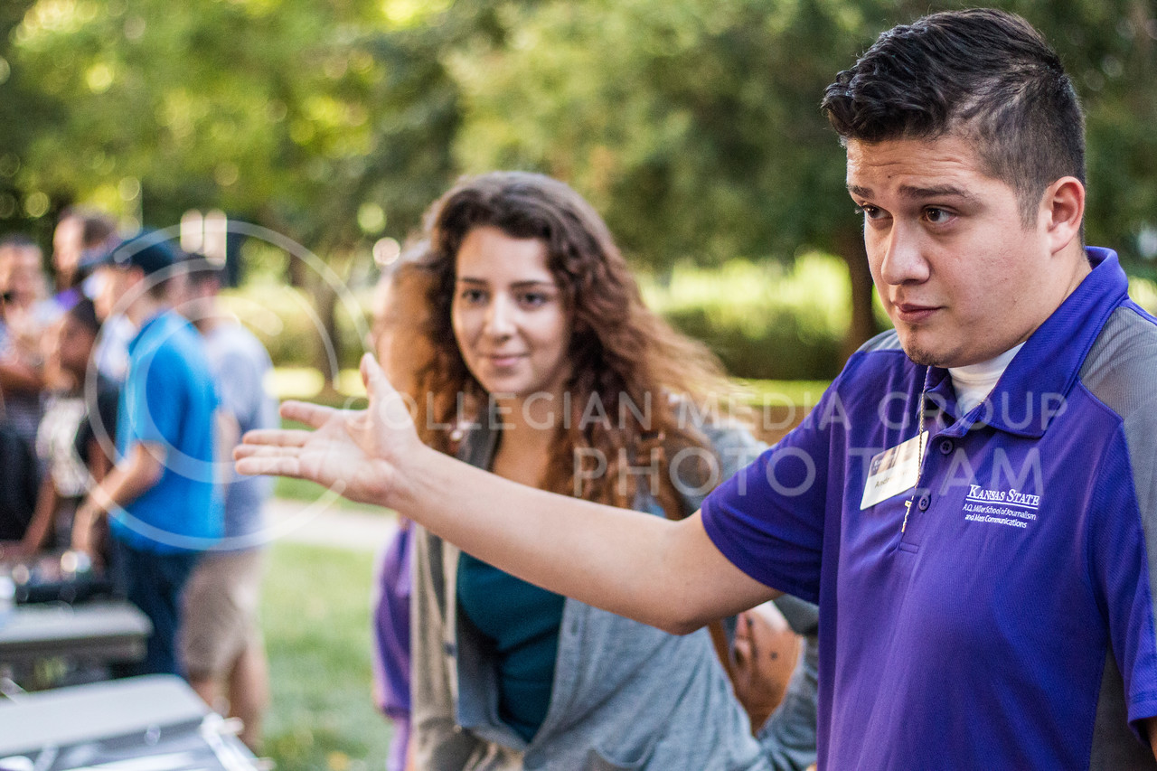 Mary Abounabhan, senior in Business Management, and Andres Rivas, senior in Digital Media at the 2017 anual Kedziepalooza at Kansas State University (Logan Wassall | Collegian Media Group)