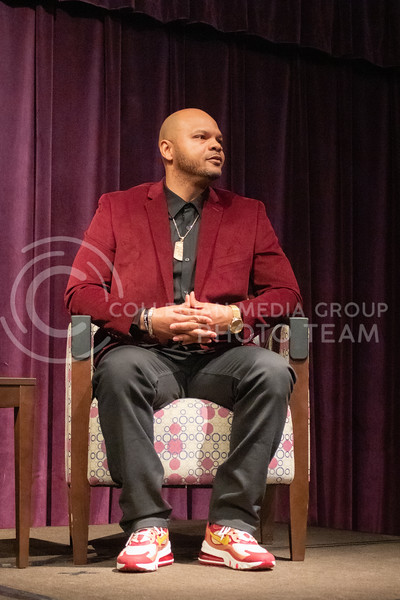Kevin Richardson speaks at Black Student Union about the exonerated five in the union ballroom on February 17th 2020. (Carter Lange | Collegian Media Group)