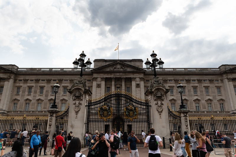 Originally built for the Duke of Wellington in 1703, Buckingham Palace has served the royal family as their private quarters since 1837. Today hundreds of thousands of tourists gather to see the public façade where the statue of Queen Victoria the Second stands. (Olivia Bergmeier | Collegian Media Group)