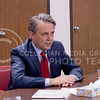 Lt. Governor Jeff Colyer, M.D. discusses with admnistration and staff about their needs and concerns at Pawnee Mental Helath, Manhattan, KS on January 18, 2018 (Saya Kakim | Collegian Media Group)