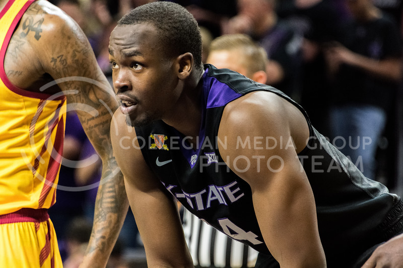 K-State foward Makol Mawien takes a quick break during a free throw shot at Bramlage Coliseum on February 27. (Alex Todd | Collegian Media Group)