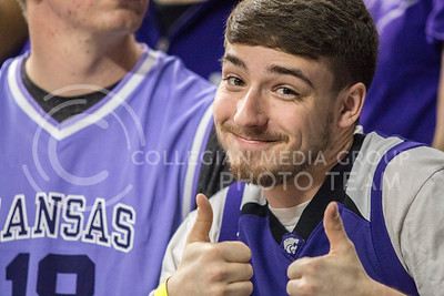 On Jan. 20, 2018, fans cheer on K-State as they play against TCU in Bramlage Coliseum. The Wildcats took the Horned Frogs 73-68. (Logan Wassall | Collegian Media Group)