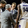 Head coach Bruce Weber describes the next play to his players during the game against Texas in Bramlage Coliseum on Feb. 21. The Wildcats took the Longhorns 58-48. (Meg Shearer   Collegian Media Group)